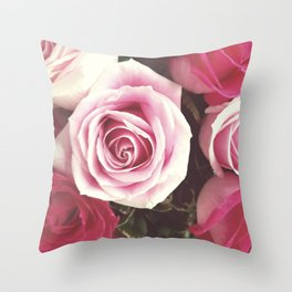 Roses are Love Throw Pillow