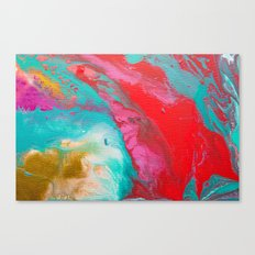 Abstract mixing of paints Canvas Print