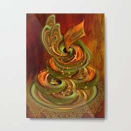 Swirly cake Metal Print