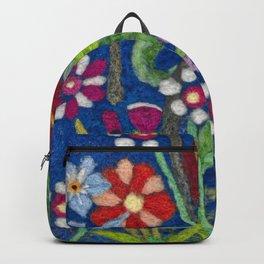 Cozy Felted Wool Flower Garden Backpack