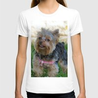 yorkie T-shirts featuring Little Yorkie by IowaShots