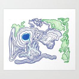 Topographic Impressions Art Print
