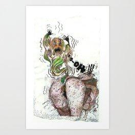 Spooky Chills Farting Thrills Art Print