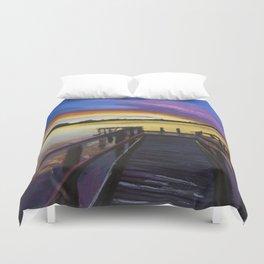 Shelley Bridge Sunset Duvet Cover