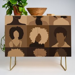 FOR BROWN GIRLS COLLECTION COLLAGE Credenza