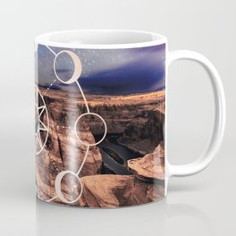 Mandala Southwest Desert Sun and Moon Phases Coffee Mug