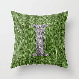 Winter clothes III. Letter i. Throw Pillow
