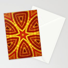red and gold kaleidoscope Stationery Cards