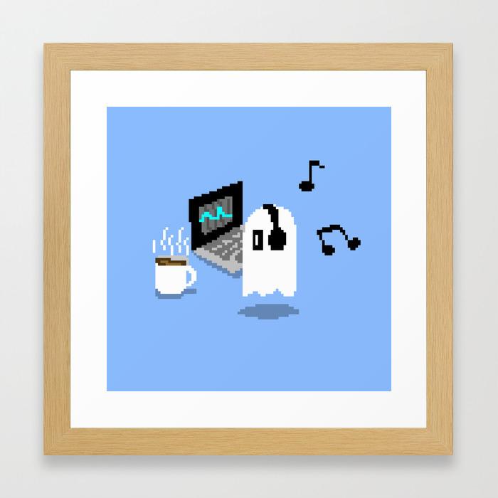 undertale-napstablook-chill-pixel-art-framed-prints Pixel Art 12x12 @koolgadgetz.com.info