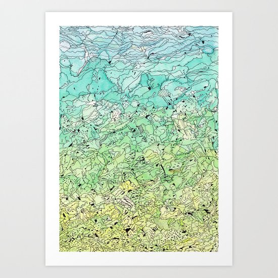 Between The Earth and Sky Art Print