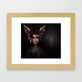 Scarlet's Lament Framed Art Print