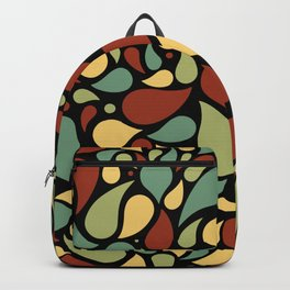 Heart surrounded by drops black pattern Backpack