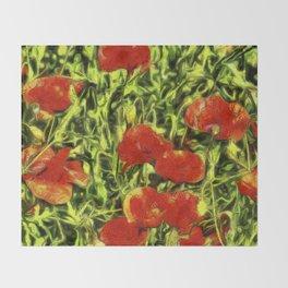 Poppys Van Goth Throw Blanket