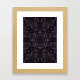 Branching Rainbow Fractal Kaleidoscope 2 Framed Art Print