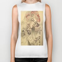 mucha Biker Tanks featuring mucha chicano by paolo de jesus