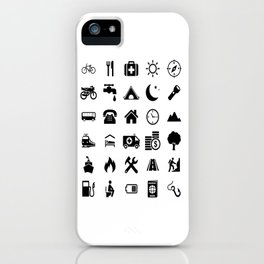 Extreme White Icon model: Traveler emoticon help for travel t-shirt iPhone Case