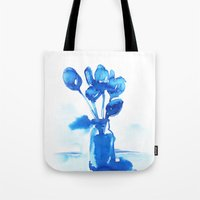 tulips Tote Bags featuring Tulips by Zsofi Porkolab
