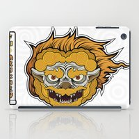 foo fighters iPad Cases featuring Foo Manchew by Laz Llanes