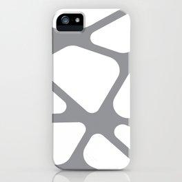 Unique gray and white organic design iPhone Case