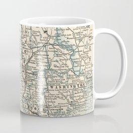 Vintage Map of Maine (1893) Coffee Mug