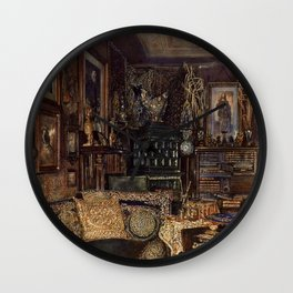The Chamber Of Count Lanckoronski Vienna 1881 by Rudolf von Alt | Reproduction Wall Clock