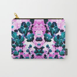 Negative Roses Print Carry-All Pouch