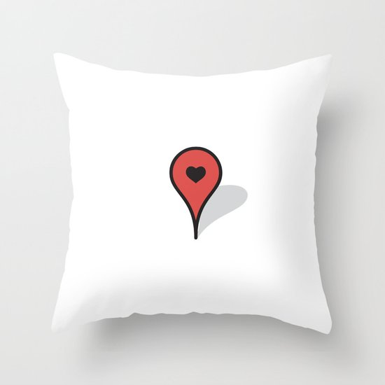Where The Heart Is Throw Pillow