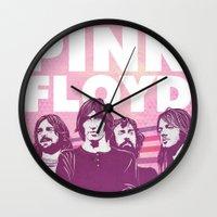 floyd Wall Clocks featuring Pink Floyd by jnk2007