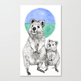 The Reign of the Quokka! Canvas Print