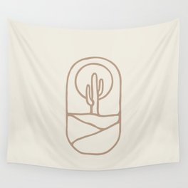Simple Cactus Wall Tapestry