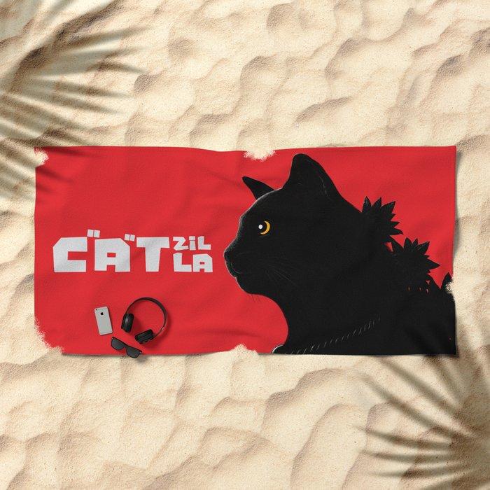 Catzilla Beach Towel