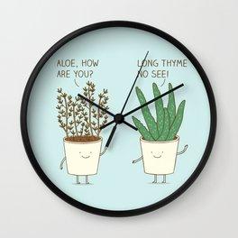 garden etiquette Wall Clock