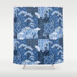 Shibori Quilt Shower Curtain