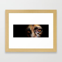 Looking Into My Soul Framed Art Print