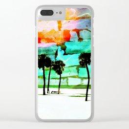 Florida Beach Clear iPhone Case