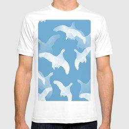 White Birds Against The Blue Sky #decor #society6 #homedecor T-shirt