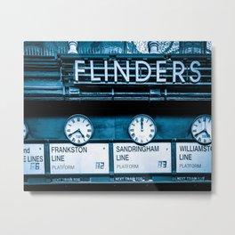 Flinders Street Station Fine Art Print Metal Print