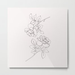 Roses illustration - Delia I Metal Print
