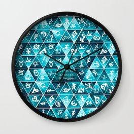 Blackthorn Family Motto Mosaic Wall Clock