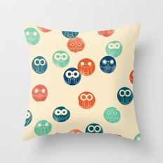 Owl Spots Throw Pillow