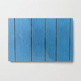 Blue wooden pattern Metal Print