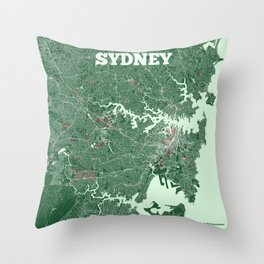 Sydney, Australia street map Throw Pillow