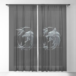 The Witcher Logo Sheer Curtain
