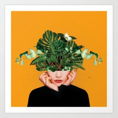 Lady Flowers minima Side Art Print