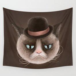 Sad cat Wall Tapestry