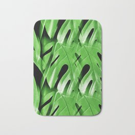Blanket Of Cheese Plant Leaves Bath Mat
