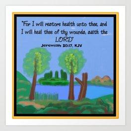 Jeremiah 30:17, KJV Art Print