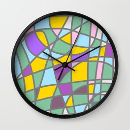 Stain Glass Abstract Meditation Easter Painting Wall Clock