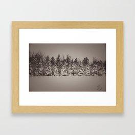 After the Blizzard, Bismarck, North Dakota Framed Art Print