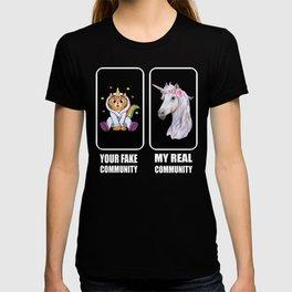 Youtube Influencer Unicorn Cat Motif Gift T-shirt